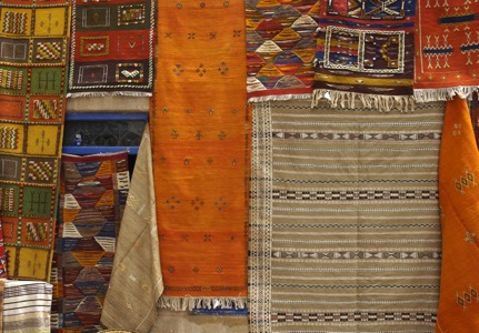 Kilim-Berber-Carpets-In- Ouarzazate-Souk-and-Villages