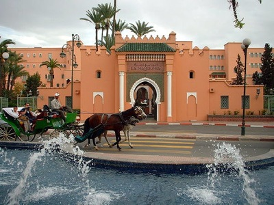 La-Mamounia-Hotel-Horse-and-Carrige