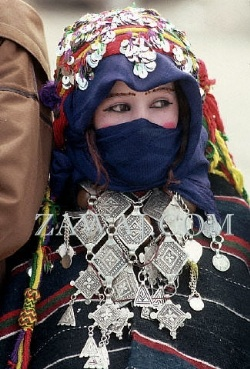 Berber Woman Wearing Ait Serrouchen Necklace