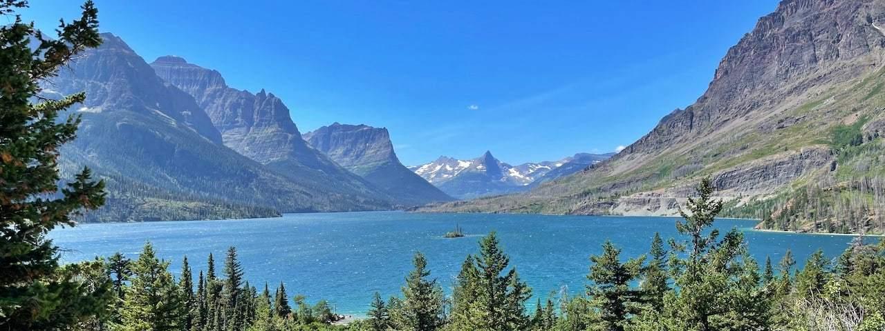 Glacier national park St Mary區域