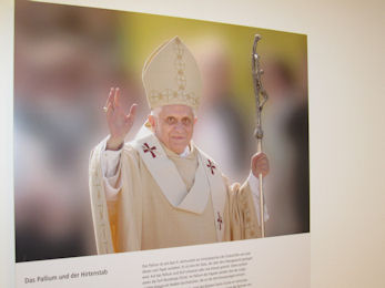 Picture of The Pope in a museum held in the house where he was born