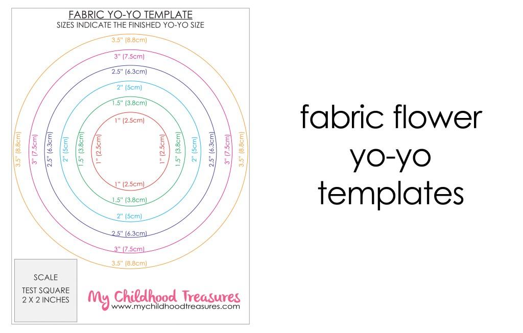 fabric flower yo yo templates