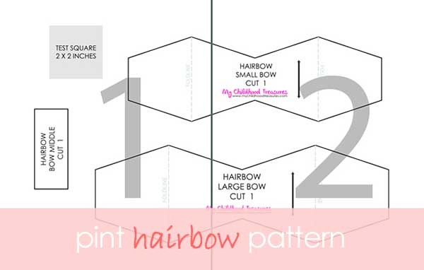 Felt Bow Template  Printable Felt Bow Tutorial Treasurie