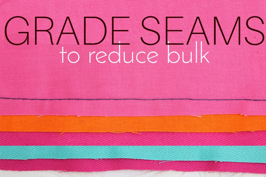 grade seams, sewing bulky seams