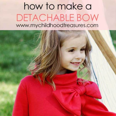 Detachable Bow DIY Tutorial for the Elke Dress