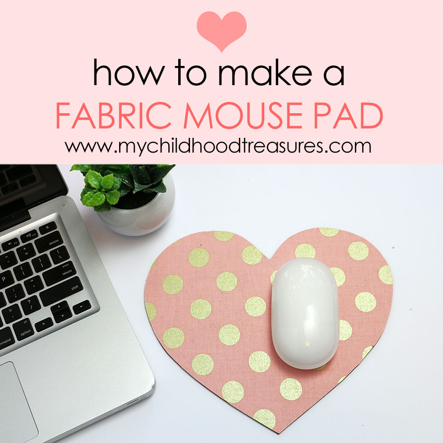 fabric covered mouse pad tutorial