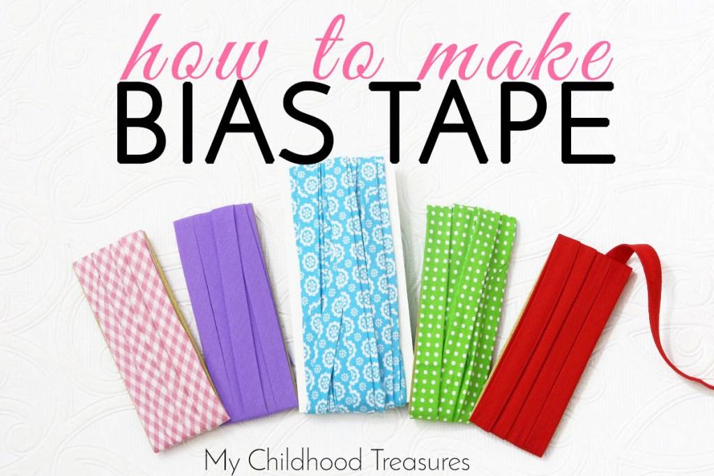how to make bias binding tape