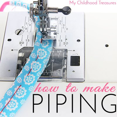 How to Make Piping for Sewing – EASY tutorial for beginners