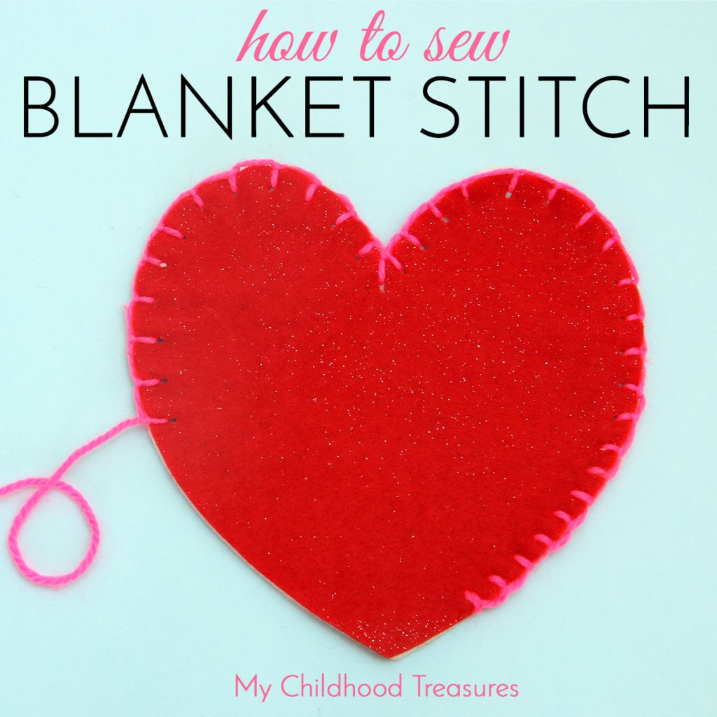 how to do blanket stitch, blanket stitch
