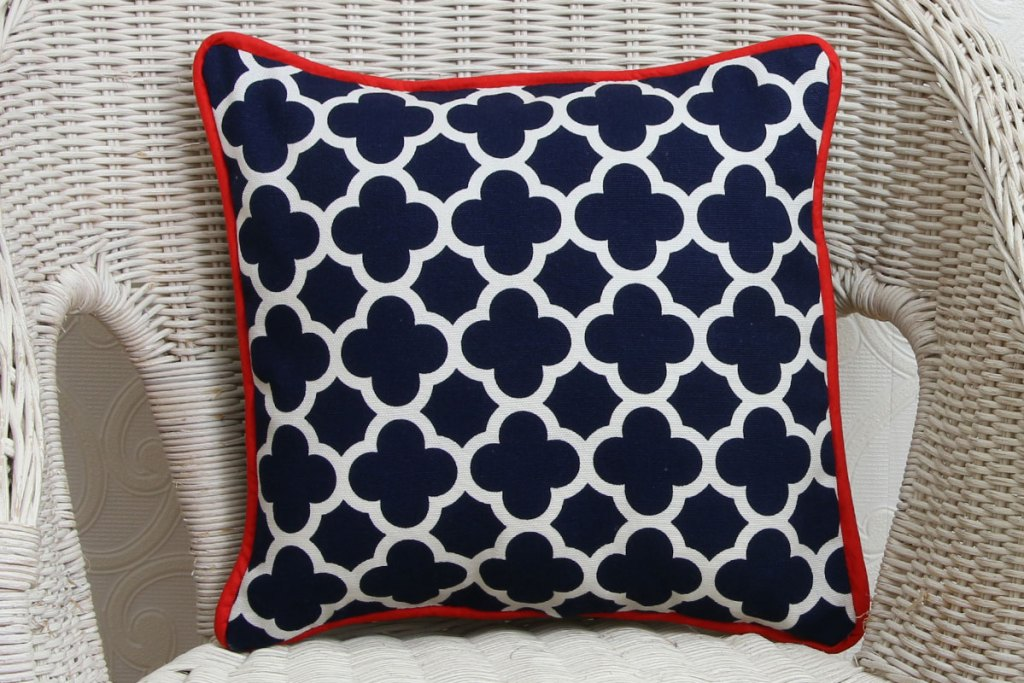 how to sew a cushion cover with piping