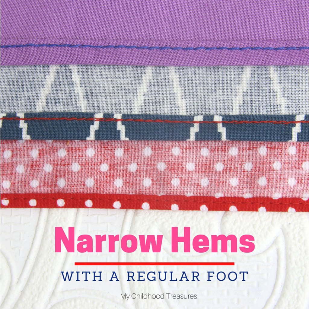 how to sew a narrow rolled hem