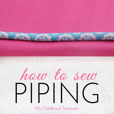 how to sew piping
