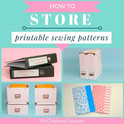 how to store patterns