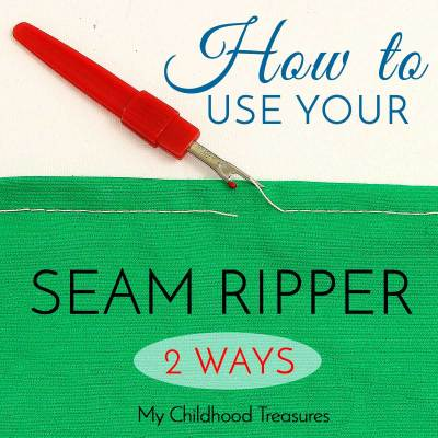 How to Use a Seam Ripper | How to unpick fabric