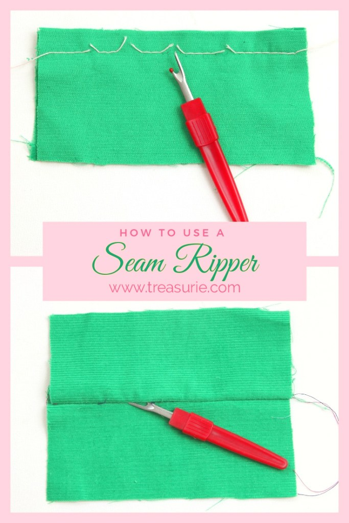 how to use a seam ripper, how to remove sewing stitches