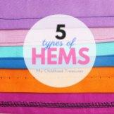 sewing hems