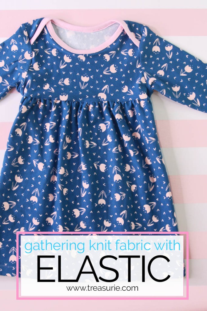 how to gather knit fabric, gathering with elastic