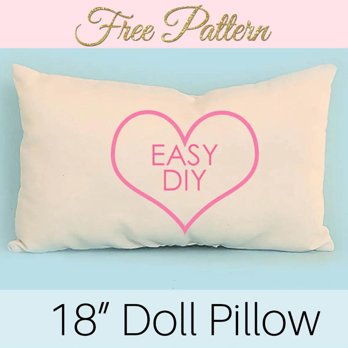 How to Make a Doll Pillow - FREE Doll Bedding Series & DIY Travel Pillow Neck Pillow - Free Pattern |TREASURIE pillowsntoast.com