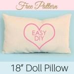 doll pillow pattern