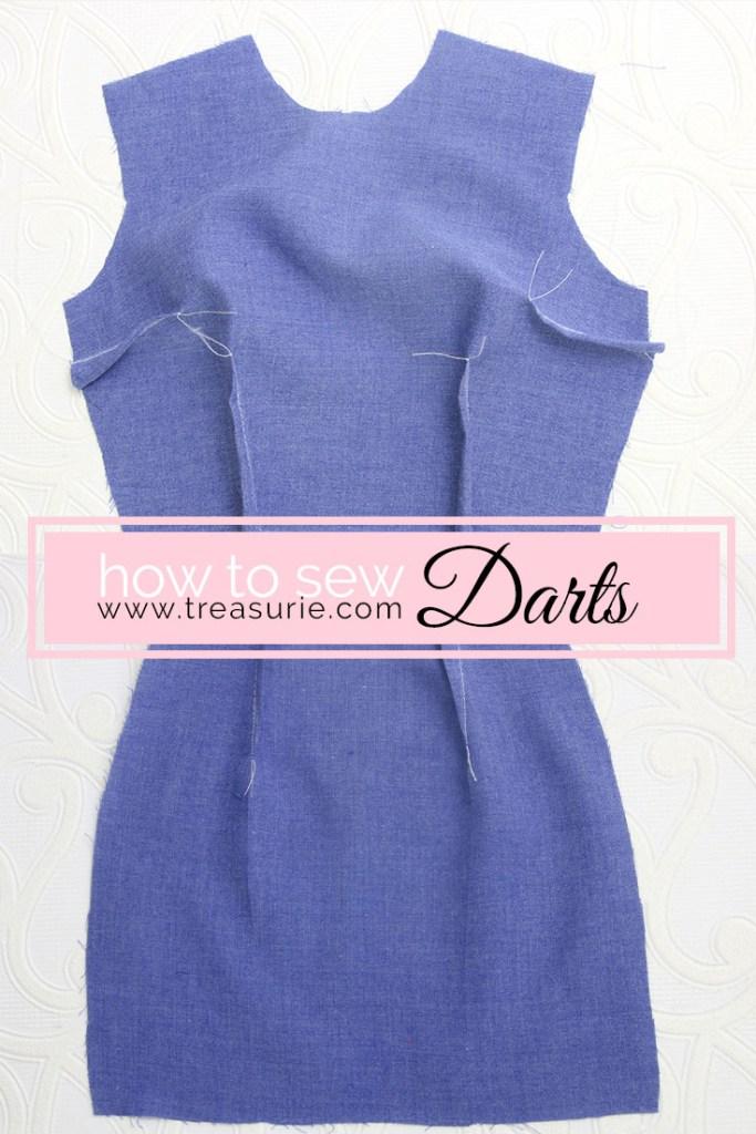 how to sew double darts, how to sew darts, waist darts