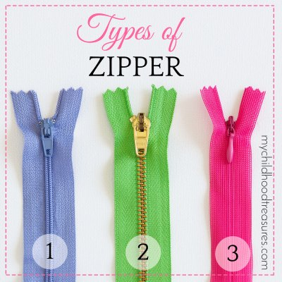 Types of Zipper & How to Measure Zippers