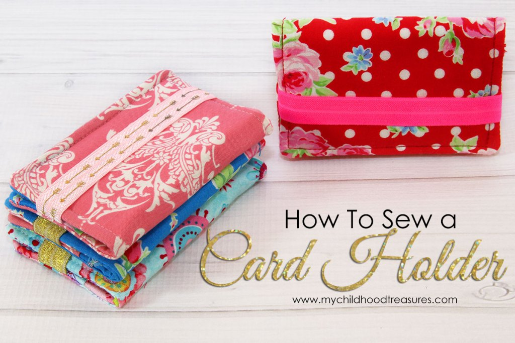 DIY Business Card Holder - FUN Scrap Fabric Project |TREASURIE