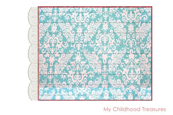 Doll Blanket Pattern - FREE Doll Bedding Tutorial |TREASURIE