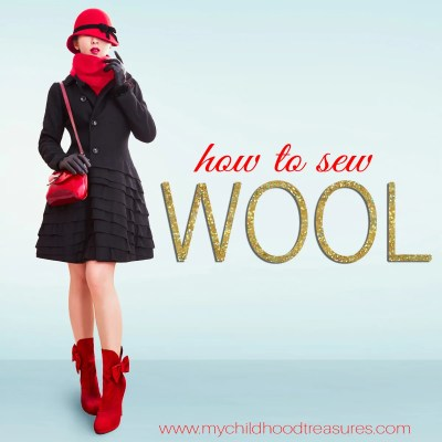 how to sew wool fabric