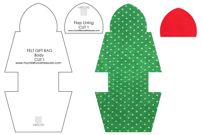 How to Make a Gift Bag: DIY Christmas Gift Bags FREE TEMPLATE  TREASURIE