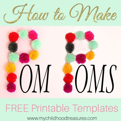 How to Make Pom Poms: Printable Pom Pom Template