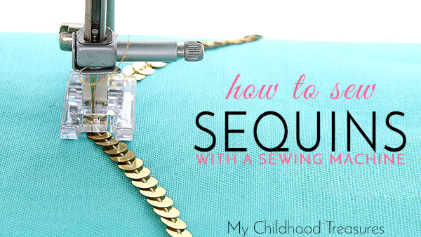 how to sew sequin trim, sewing sequins by machine