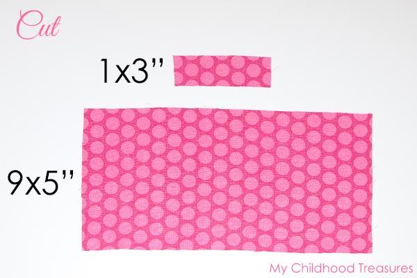 diy fabric bow cutting