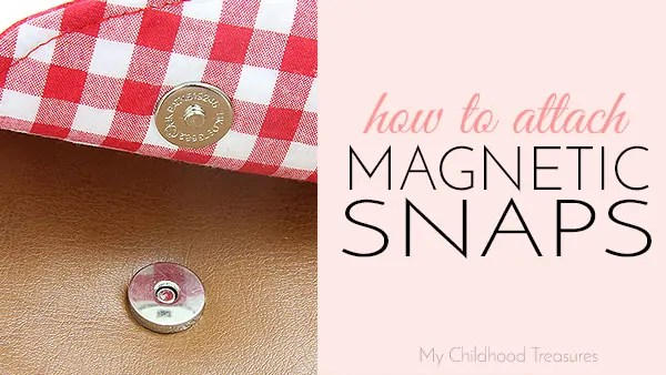 how to insert magnetic snaps closeures