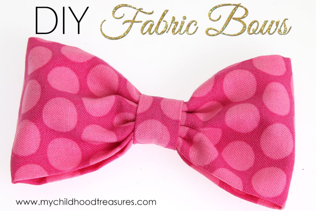 how to make fabric bows, diy fabric bows
