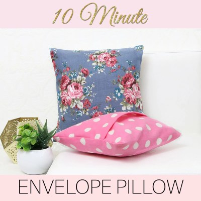 How to Make Cushion Covers: Envelope Covers in 10 MINUTES