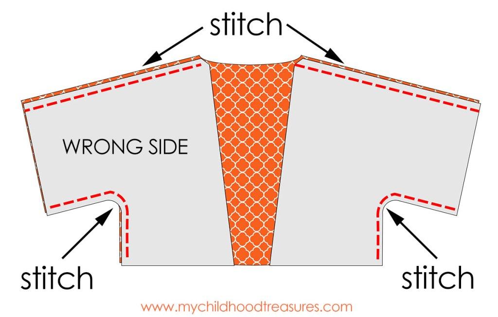Free Kimono Jacket Pattern: Simple Pattern for Girls |TREASURIE