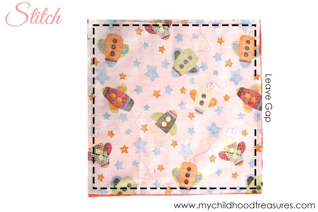 diy napkins - step 1