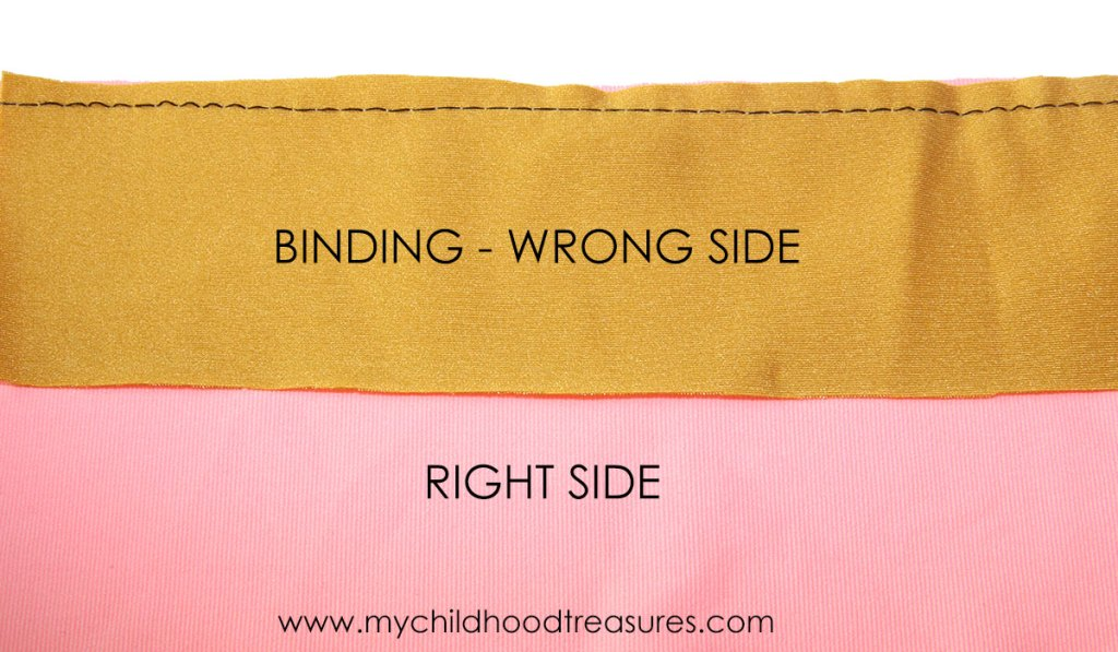 how to sew binding step 1