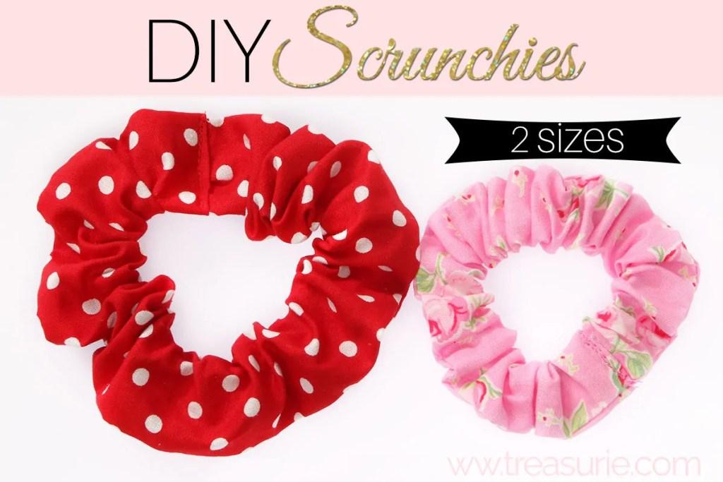 how to make a scrunchie, diy scrunchie
