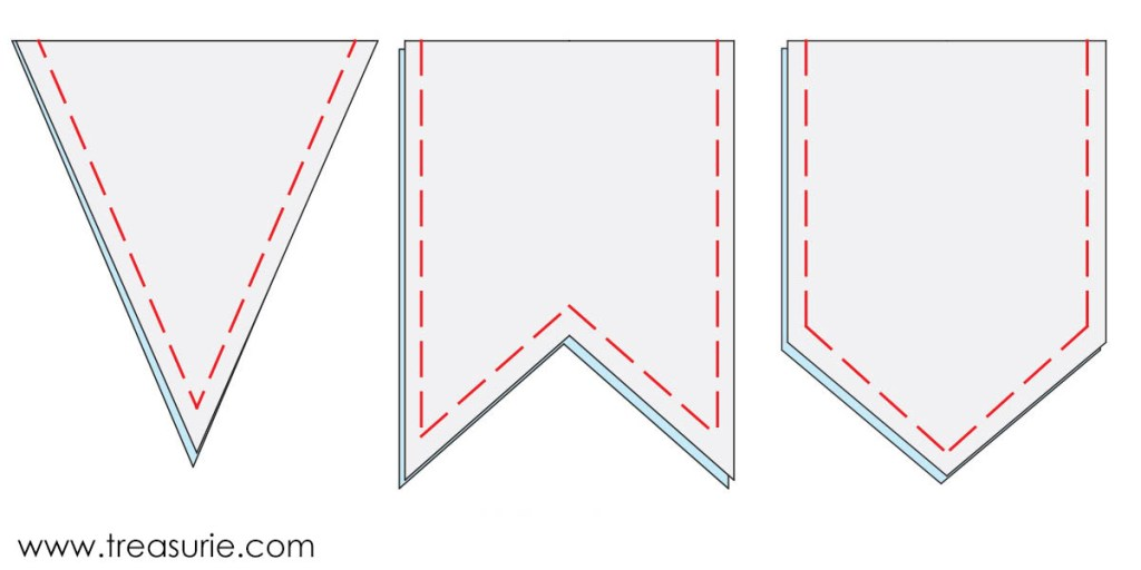 how to make bunting 3 bunting template shapes treasurie