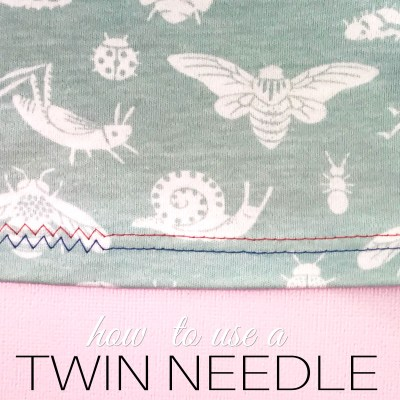 How to sew with a twin needle or double needle