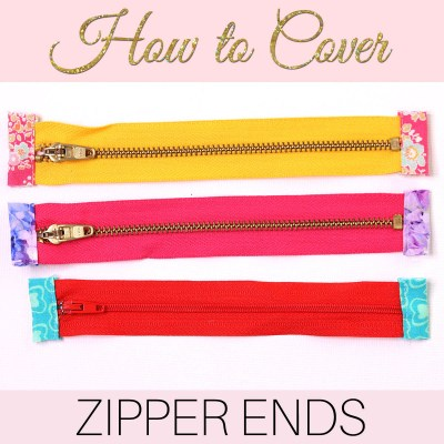 How to Cover Zipper Ends – Great for bag projects