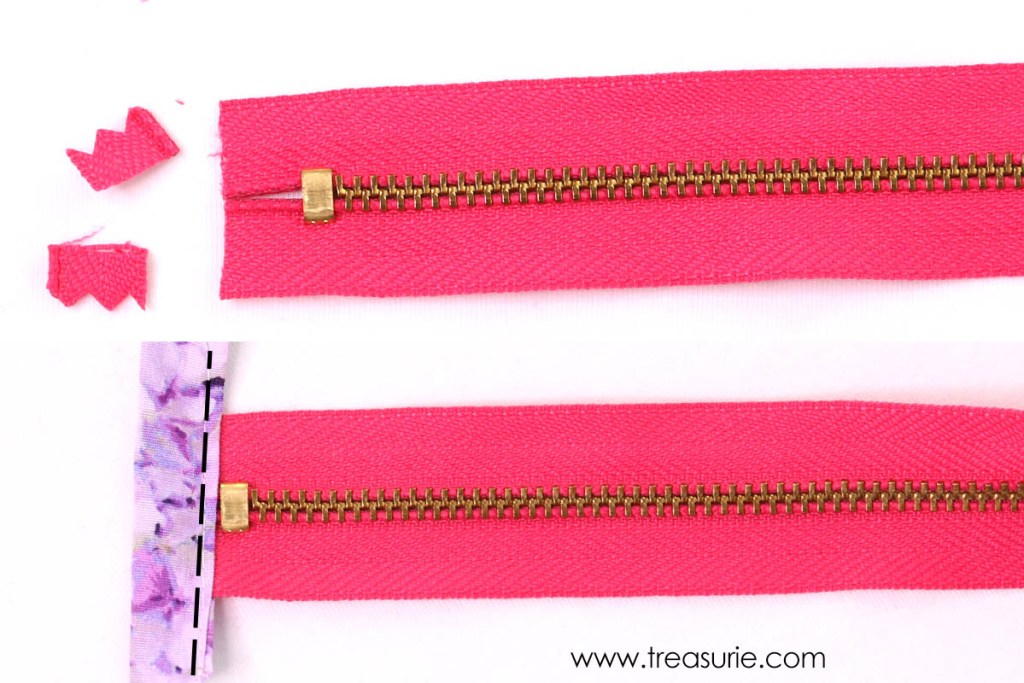 How to Cover Zipper Ends - Stitch Fabric