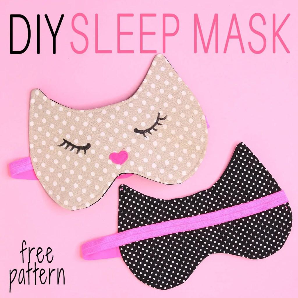 sleep mask tutorial