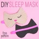 Sleep Mask Tutorial: Cat Mask Free Pattern