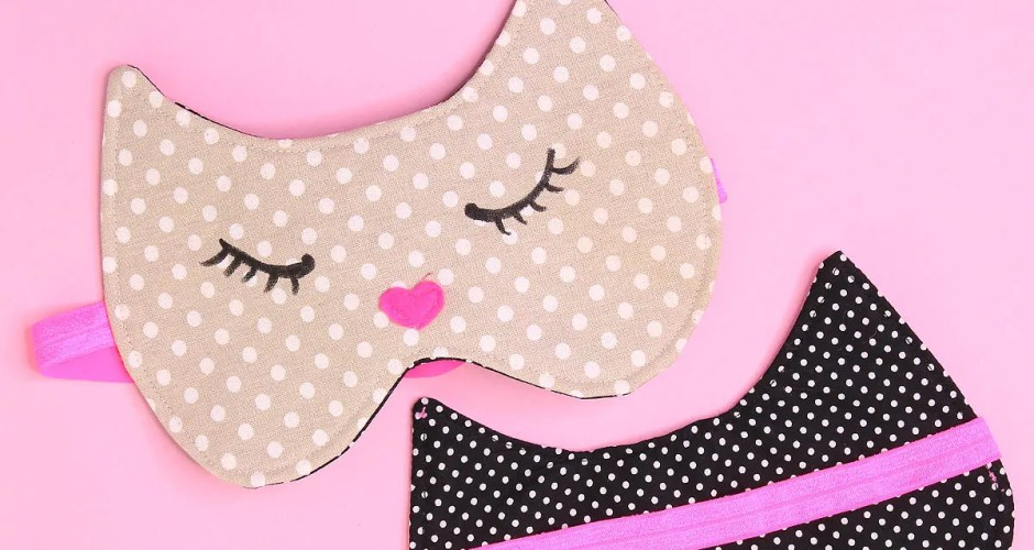 Sleep Mask Tutorial: Cat Mask Free Pattern