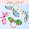 DIY Hair Ties – Hairbands with bows