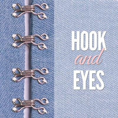 Hook and Eye Sewing: TUTORIAL for Beginners