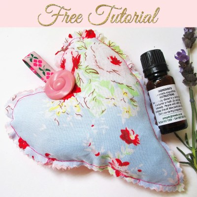DIY Scented Sachets – Heart Sachet for your Drawers