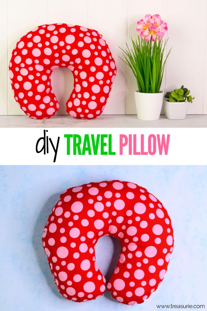 diy travel pillow, diy neck pillow